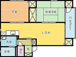 ヴァン・スクエアー2010 B棟[102号室]の間取り