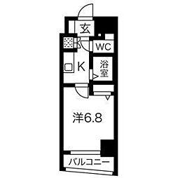 スパシエ グラフィカ レジデンス[6階]の間取り