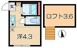 神奈川県横浜市南区井土ケ谷下町の賃貸アパートの間取り