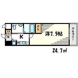 グルーヴ武庫川[4階]の間取り