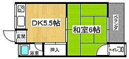 原田マンション(向島)[1階]の間取り