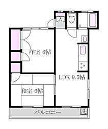 南浦マンション[3階]の間取り