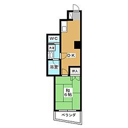鷹匠スカイコーポ[4階]の間取り