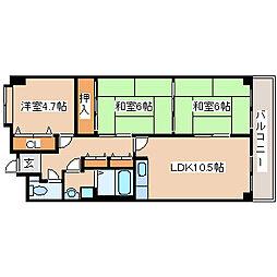 兵庫県神戸市垂水区狩口台6丁目の賃貸マンションの間取り