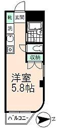 タウンフレッチェ高幡[7階]の間取り