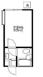 埼玉県ふじみ野市築地2丁目の賃貸アパートの間取り