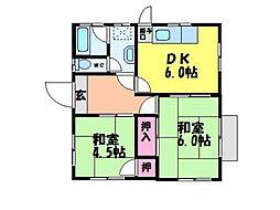 [一戸建] 愛媛県松山市余戸東5丁目 の賃貸【/】の間取り