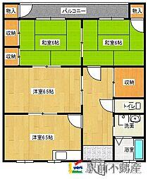 正山ハイツ[1階]の間取り