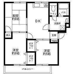 ボナール町田A[1階]の間取り