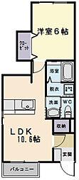 レットル・ダムールB棟[1階]の間取り