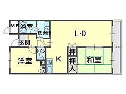 ドミール川崎[5階]の間取り