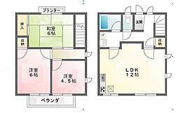 [テラスハウス] 東京都府中市本町3丁目 の賃貸【/】の間取り