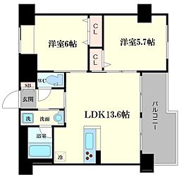 Dios城東[3階]の間取り