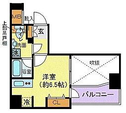 デュアレス千代田三崎町 3階ワンルームの間取り