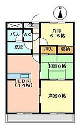 メゾン霞ヶ丘[602号室]の間取り