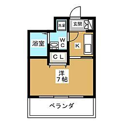 ベラジオ四条烏丸[8階]の間取り