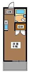 東京都目黒区上目黒3丁目の賃貸アパートの間取り