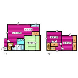 [一戸建] 北海道札幌市北区新琴似四条4丁目 の賃貸【/】の間取り