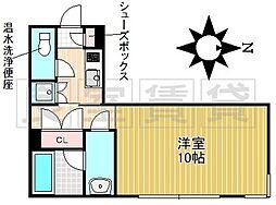 名古屋市営名城線 茶屋ヶ坂駅 徒歩9分の賃貸マンション 2階1Kの間取り