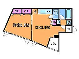 ラフィーノ多摩川[4階]の間取り