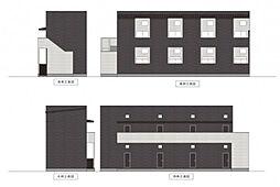 愛知県名古屋市西区枇杷島5丁目の賃貸アパートの外観