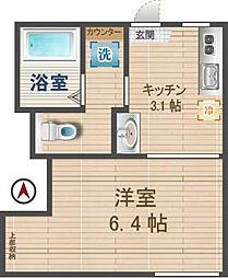 東京都杉並区清水2の賃貸アパートの間取り