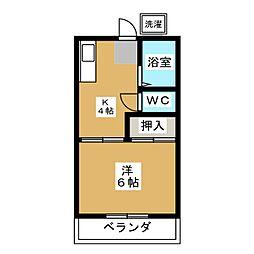 ハイツSJ下島[1階]の間取り