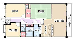 神奈川県相模原市南区古淵1丁目の賃貸マンションの間取り
