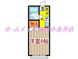 モンシャトー田代[2階]の間取り
