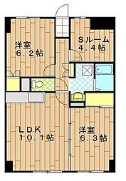 WITH PLACE MORISAKI[703号室]の間取り