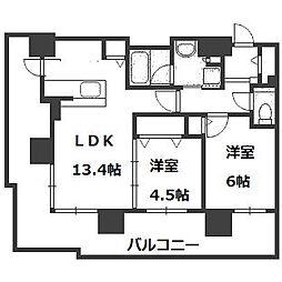 ブランズタワーアイム札幌大通公園[201号室]の間取り