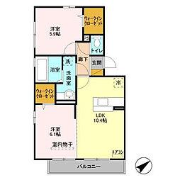 マーレ金田[3階]の間取り