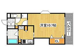 ル・パピヨン2[5階]の間取り