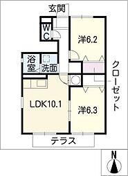 シェルフィー[1階]の間取り