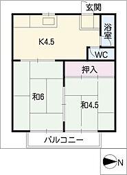 イヤーコート上豊田 B[1階]の間取り