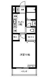 埼玉県鶴ヶ島市脚折町3丁目の賃貸アパートの間取り
