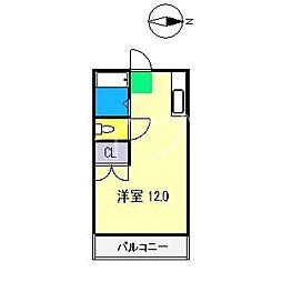 クラウン朝倉[4階]の間取り