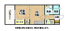 JR日田彦山線 南小倉駅 徒歩20分の賃貸マンション 1階1DKの間取り