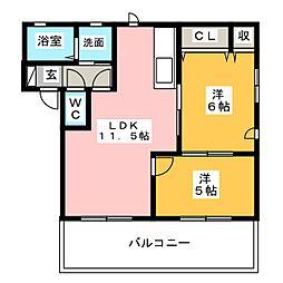 ウィステリア天白 A棟[2階]の間取り