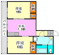 メゾン竹之内[2階]の間取り