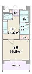 ユヌ ヴィラ 華II404号室沖縄市比屋根6-38 5階1DKの間取り