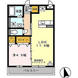 プレミールM[2階]の間取り