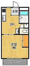 ダイア・コーポ[1階]の間取り