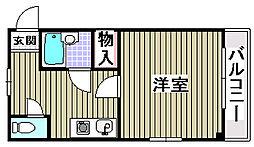 三井ハイツ2番館[102号室]の間取り