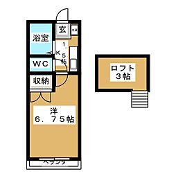 セラヴィ福室A[2階]の間取り