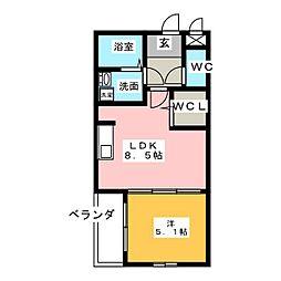 Leciel有松[2階]の間取り