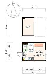 仮)豊島1丁目B計画[202号室]の間取り