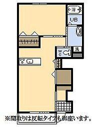 (新築)エムグレイスR[106号室]の間取り