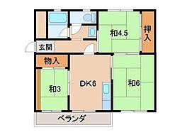 グリーンマンションI[1階]の間取り