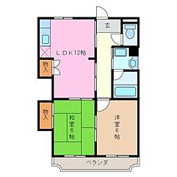 三重県四日市市西町の賃貸マンションの間取り